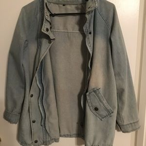 Denim collared jacket